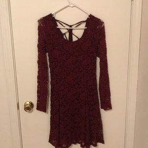 Maroon lace American eagle dress